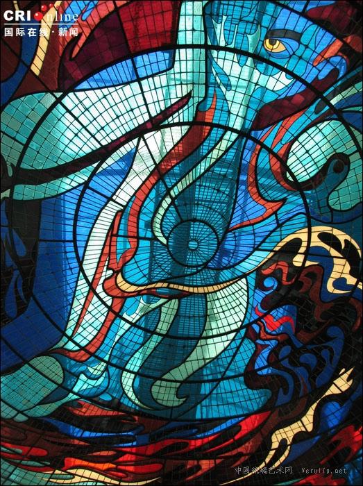欧式琉璃窗贴图