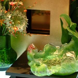 雕刻南瓜图案琉璃立体