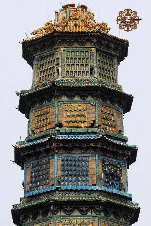 山西晋城寿圣寺琉璃塔
